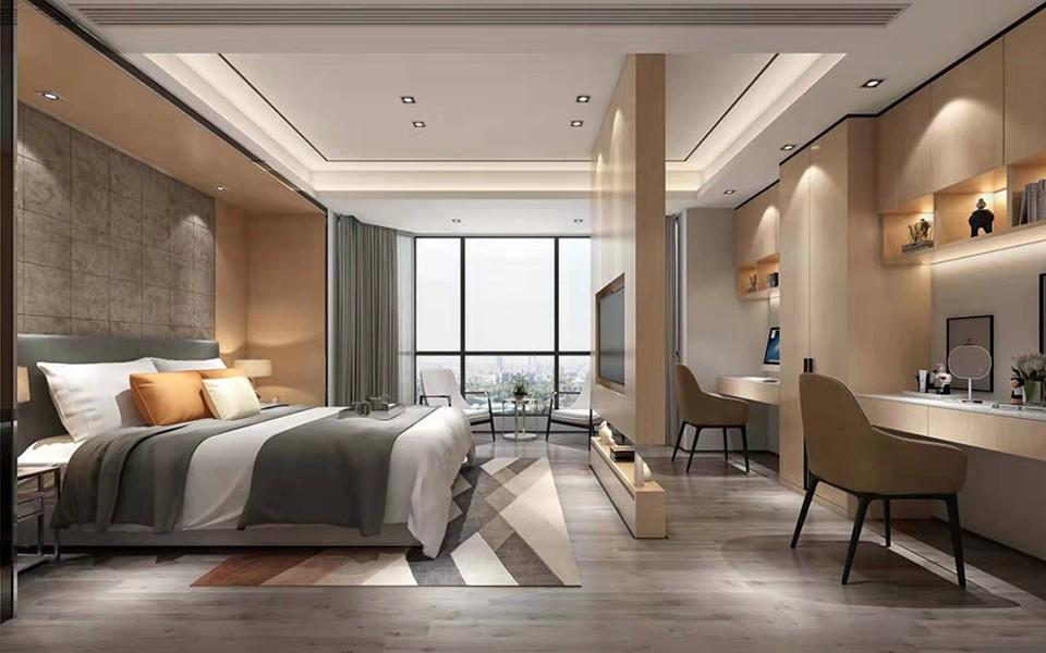 2020現代簡約臥室裝修設計圖片 2020現代簡約落地窗圖片