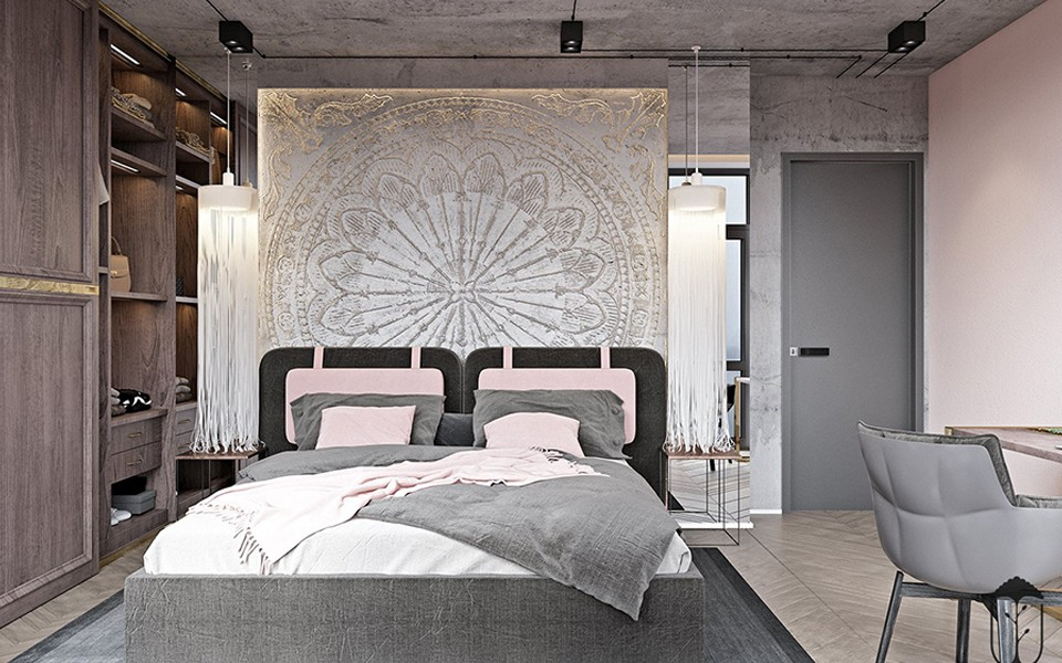 2020工业卧室装修设计图片 2020工业背景墙装饰设计