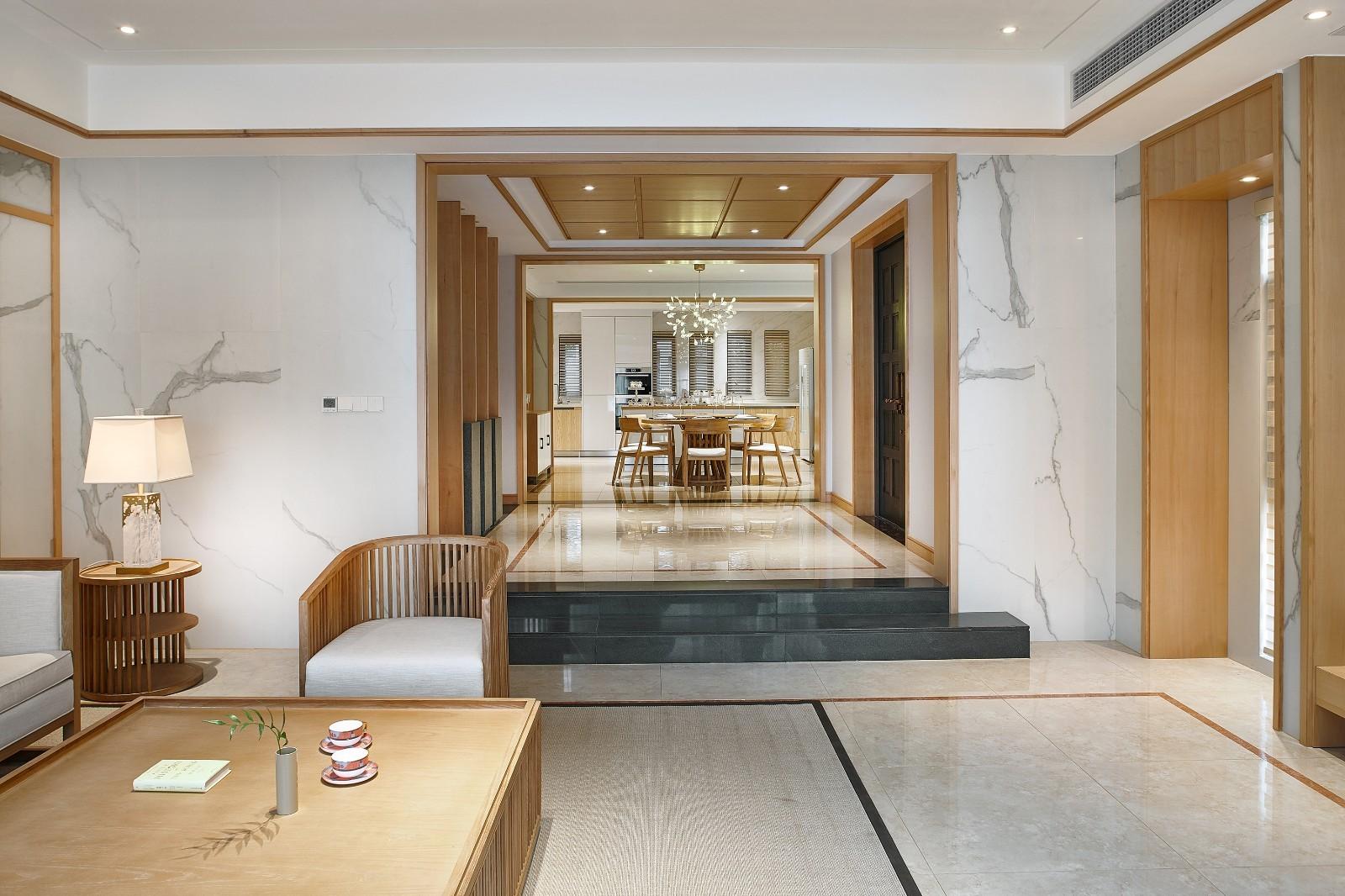 2021新中式240平米装修图片 2021新中式别墅装饰设计