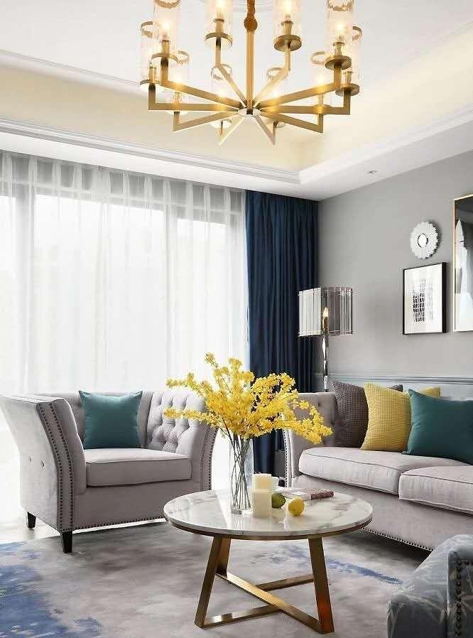 2020美式客厅装修设计 2020美式灯具图片