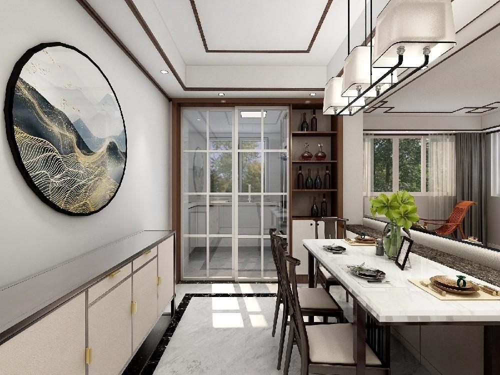 3室1卫1厅128平米中式风格