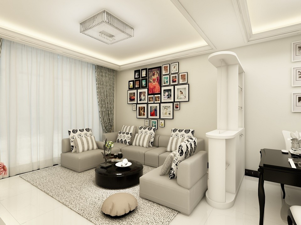 2室1卫1厅90平米简约风格