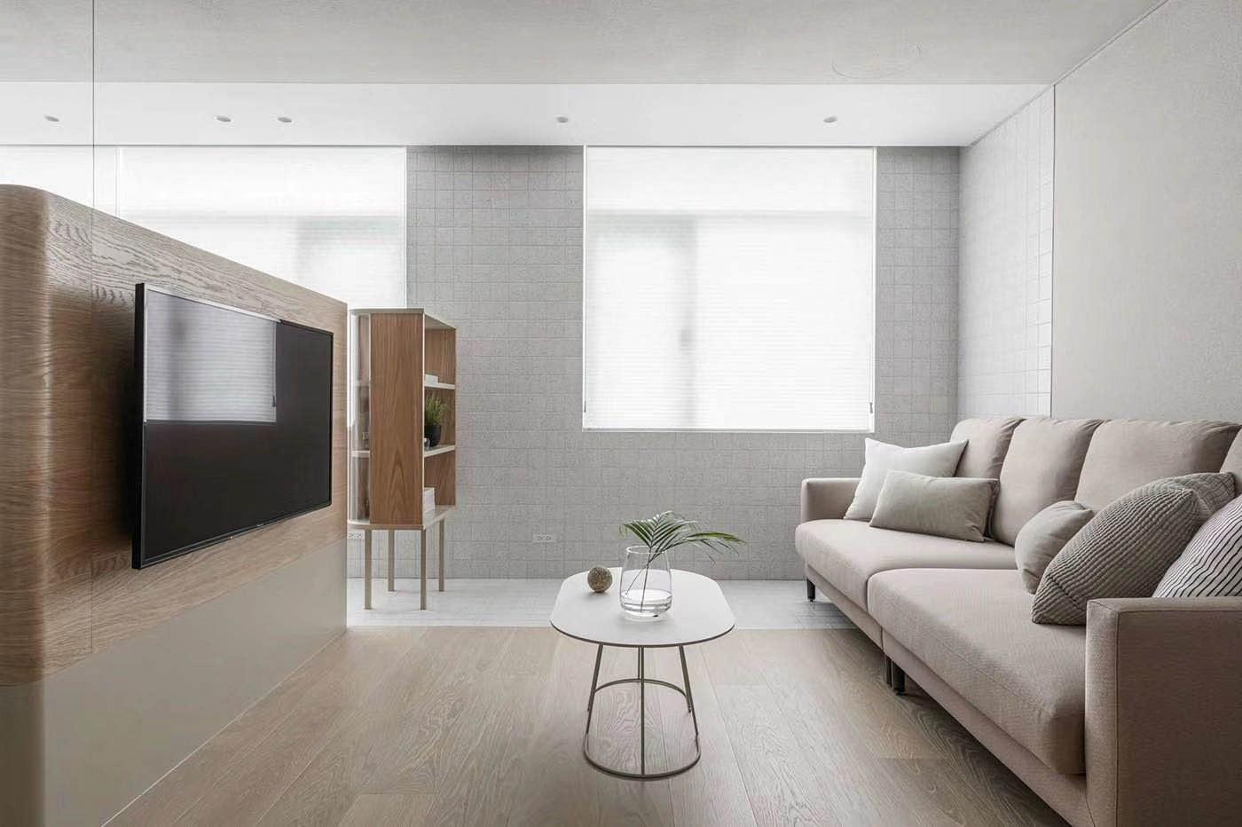 2020日式客厅装修设计 2020日式电视背景墙装修设计图片