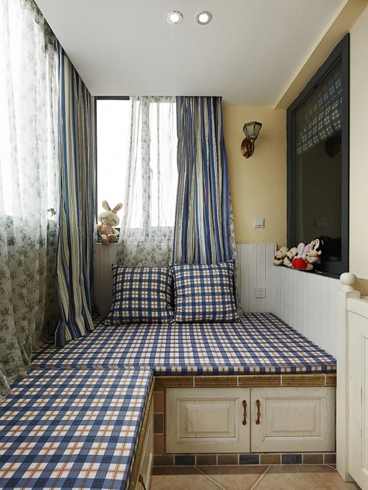 2020地中海卧室装修设计图片 2020地中海飘窗图片