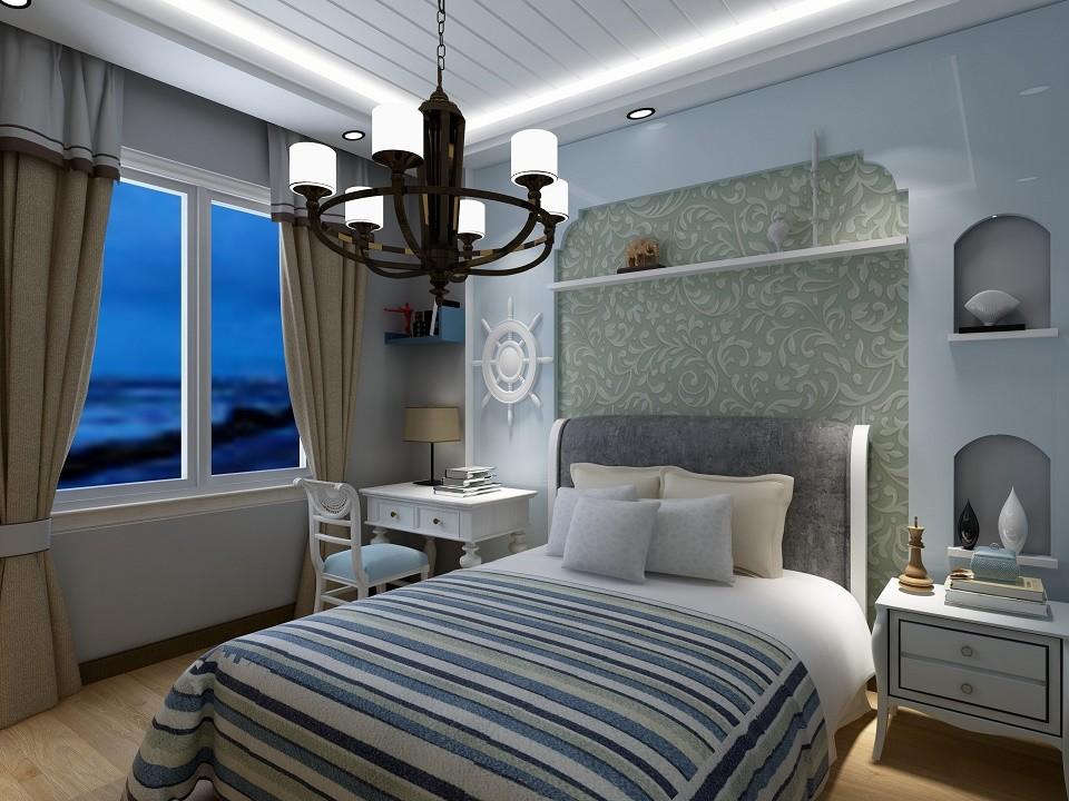 2020地中海卧室装修设计图片 2020地中海吊顶效果图
