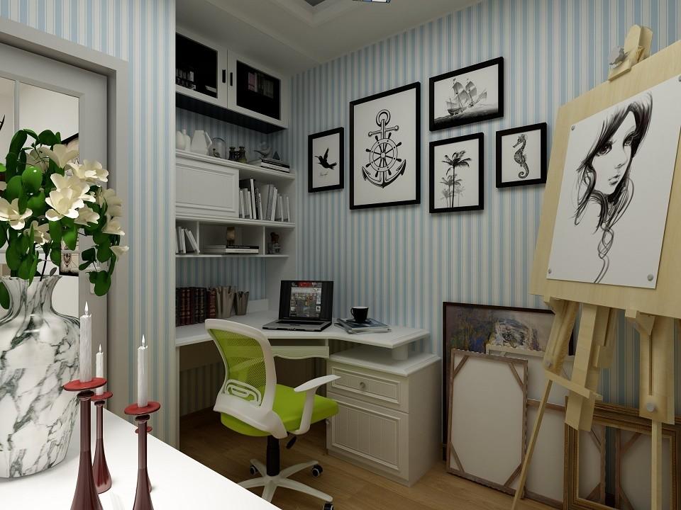 2020地中海书房装修设计 2020地中海照片墙装饰设计