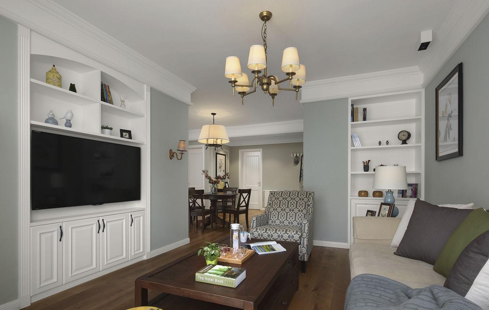 2020美式110平米装修设计 2020美式套房设计图片