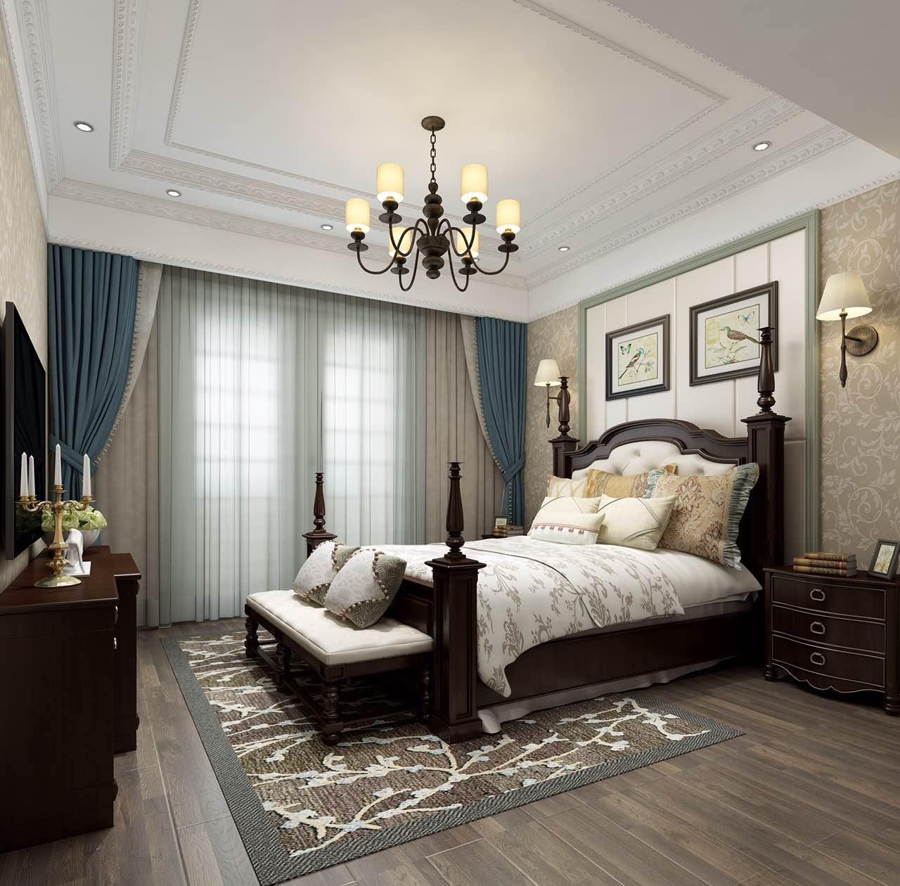 2020混搭卧室装修设计图片 2020混搭床头柜装修设计图片
