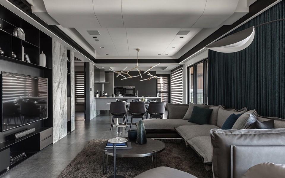 2020现代客厅装修设计 2020现代过道图片
