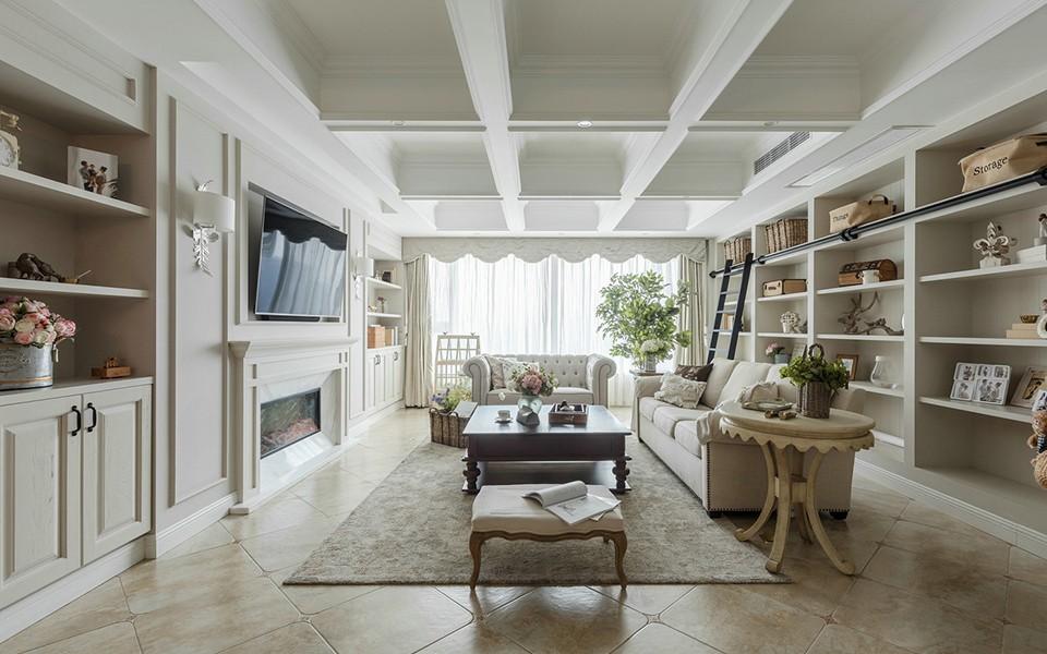 2020美式客厅装修设计 2020美式过道图片