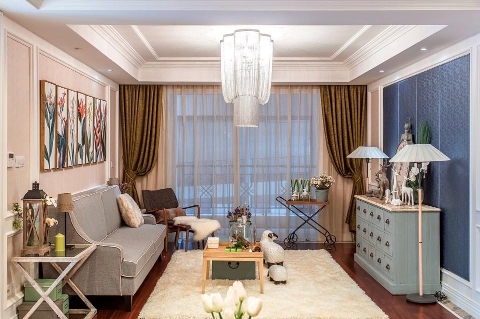 3室2卫1厅100平米欧式风格