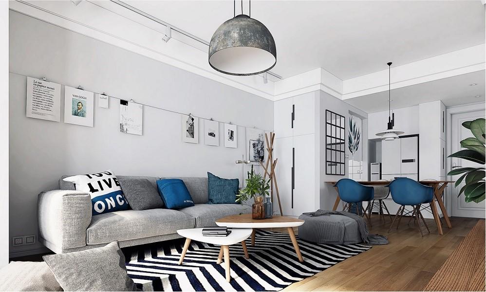2室1卫1厅100平米北欧风格