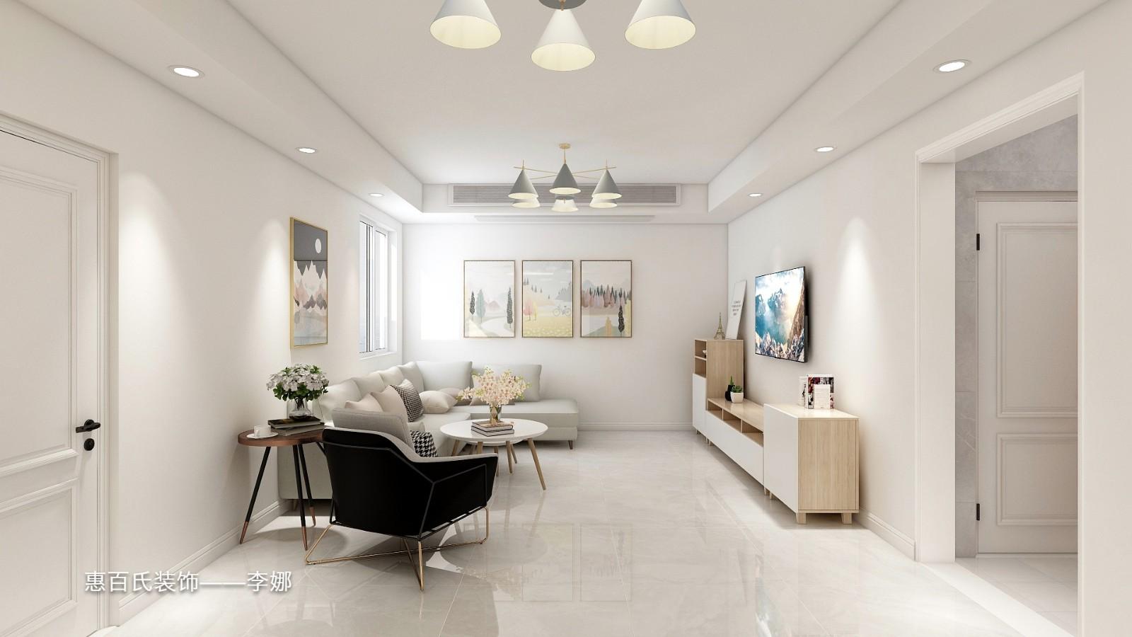 2室1卫1厅105平米简约风格