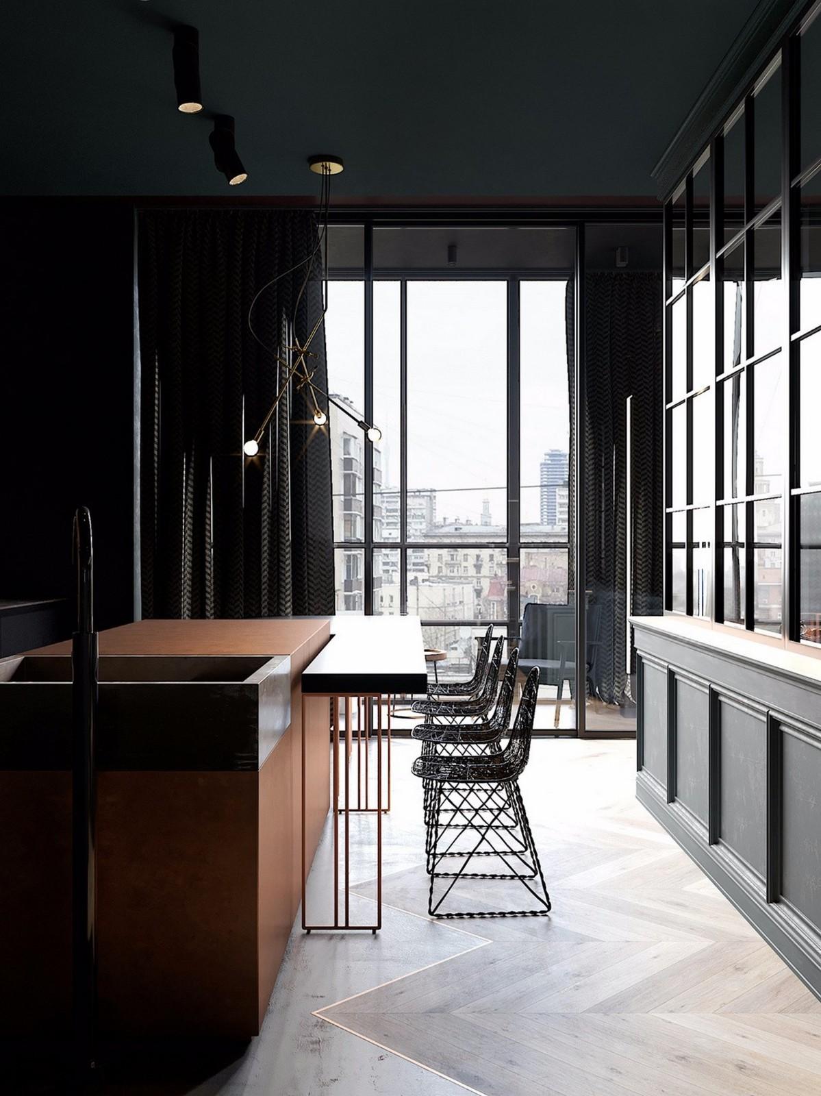 2020现代餐厅效果图 2020现代吧台装饰设计