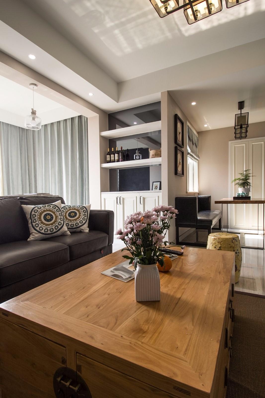 2020中式客厅装修设计 2020中式茶几效果图