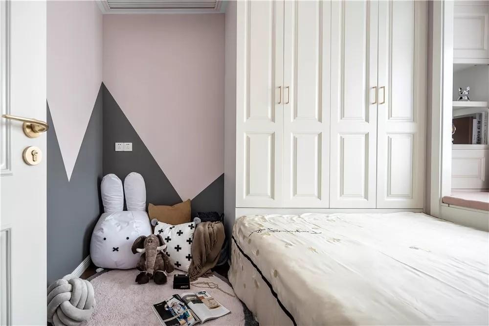 2020美式儿童房装饰设计 2020美式背景墙装修图