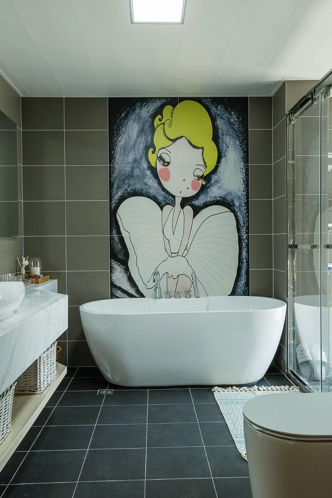 2021北欧浴室设计图片 2021北欧浴缸装修效果图大全