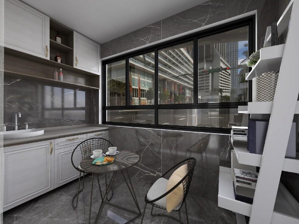 3室1卫1厅90平米现代简约风格
