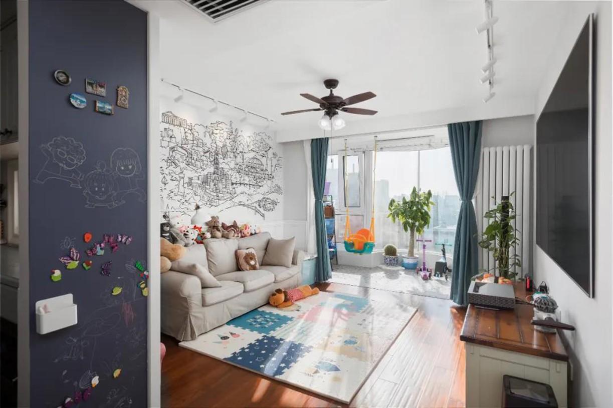香格里拉110㎡現代美式風住宅,優雅與舒適共存的典范之家