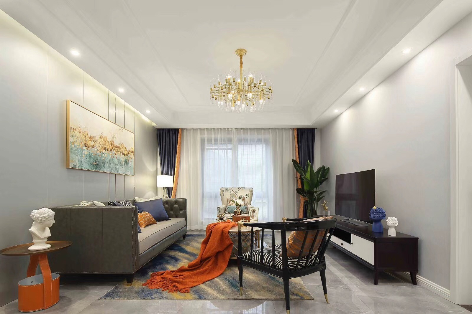 2021简单客厅装修设计 2021简单电视背景墙装修设计图片