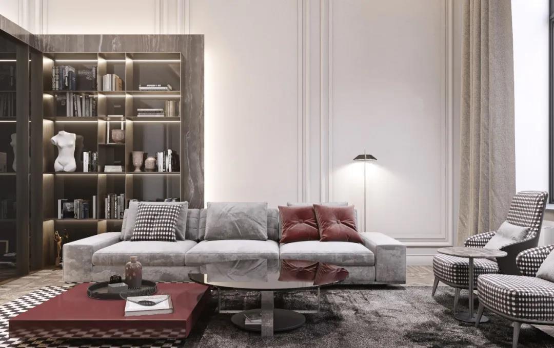 2020新中式客厅装修设计 2020新中式书架装修图