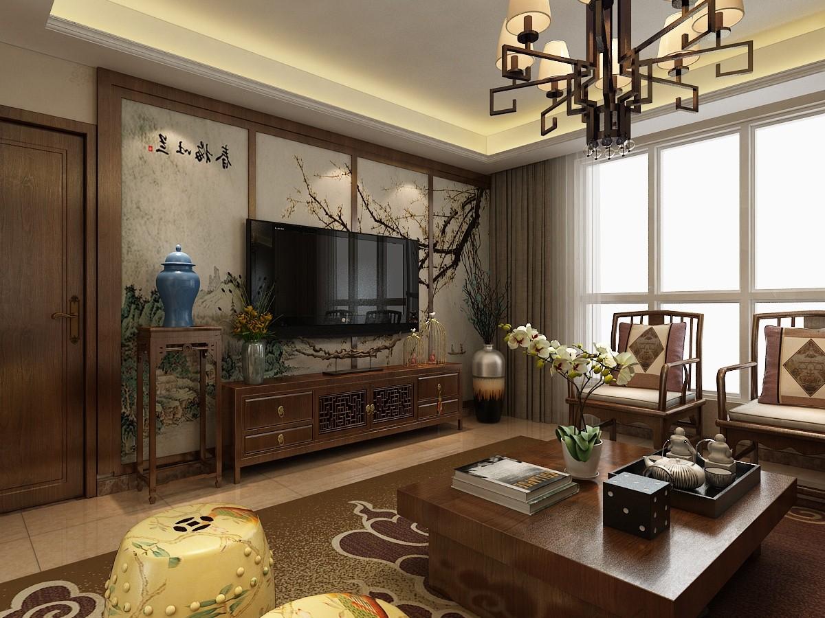 2020中式150平米效果圖 2020中式四居室裝修圖