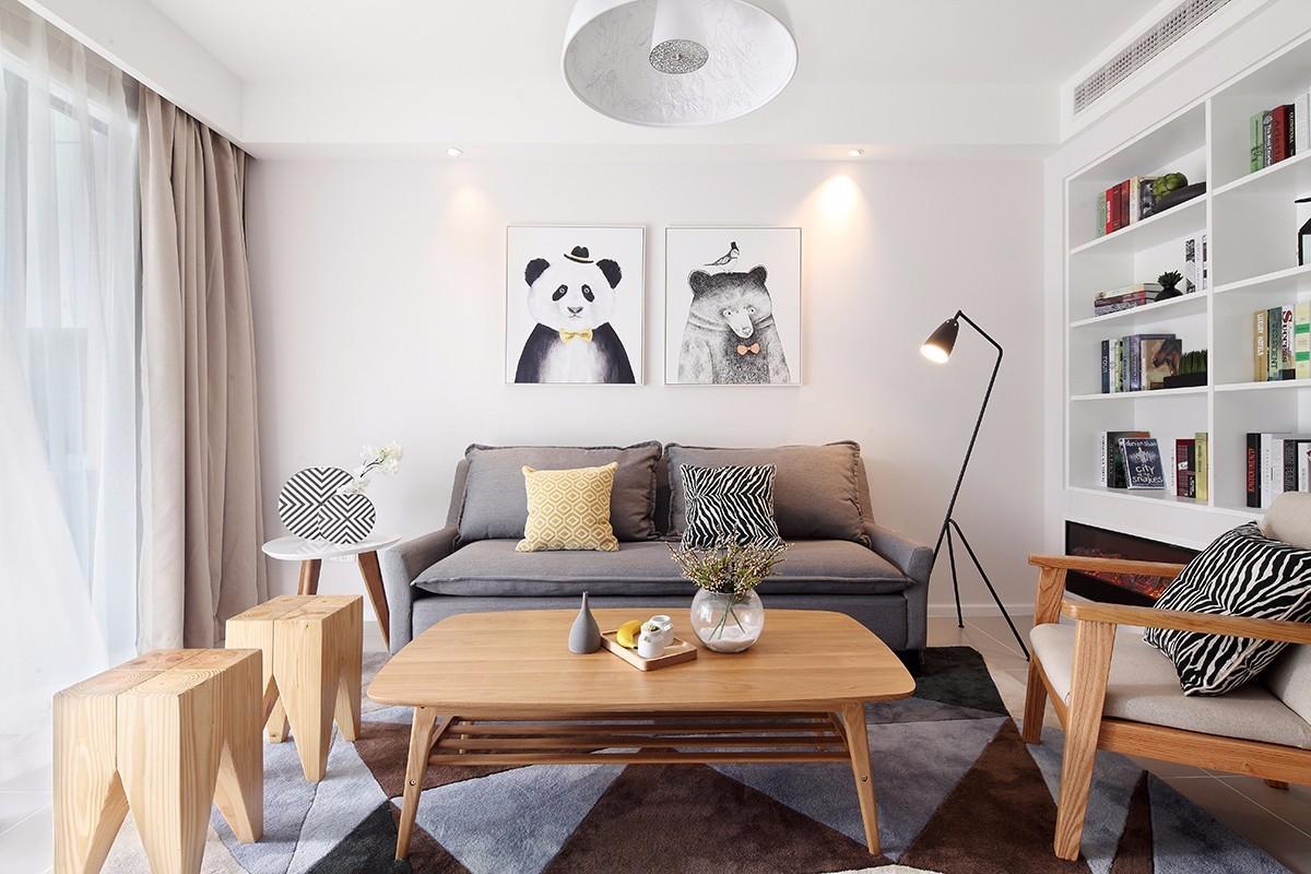 2020北欧客厅装修设计 2020北欧茶几效果图