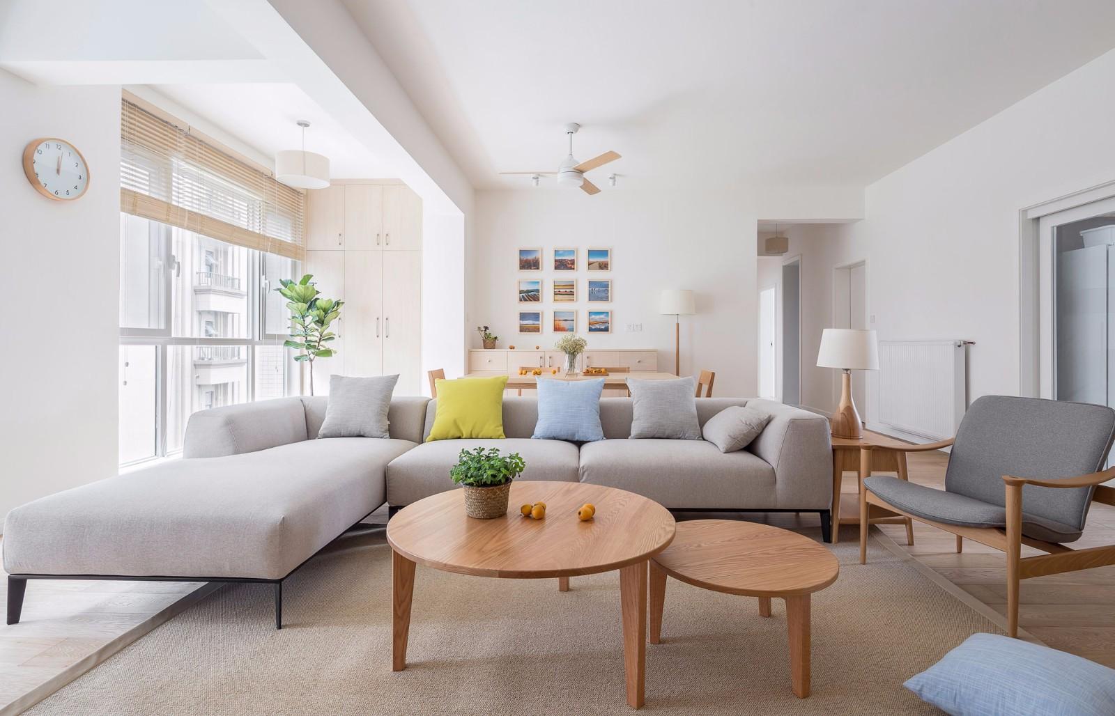 2020日式客厅装修设计 2020日式茶几效果图