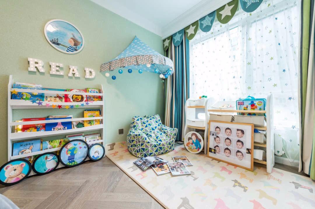 2020美式兒童房裝飾設計 2020美式背景墻裝修圖