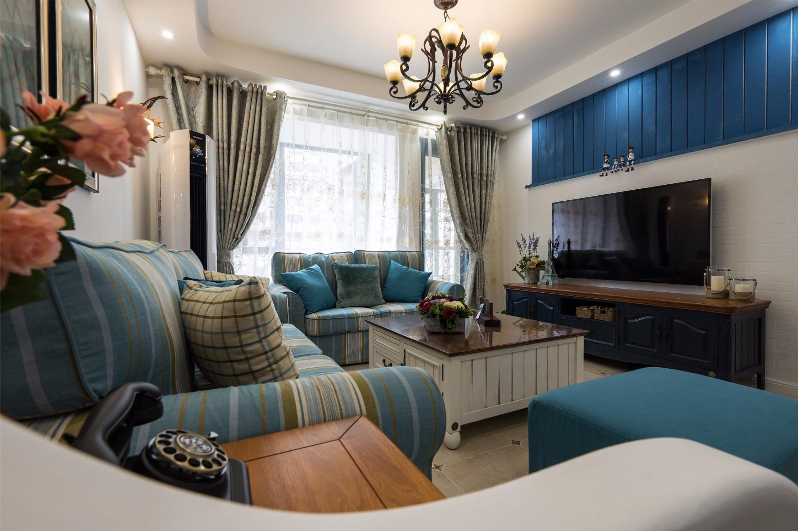 2021地中海110平米装修设计 2021地中海三居室装修设计图片