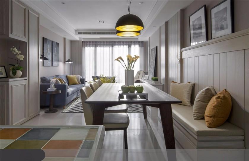 2021美式110平米装修设计 2021美式二居室装修设计