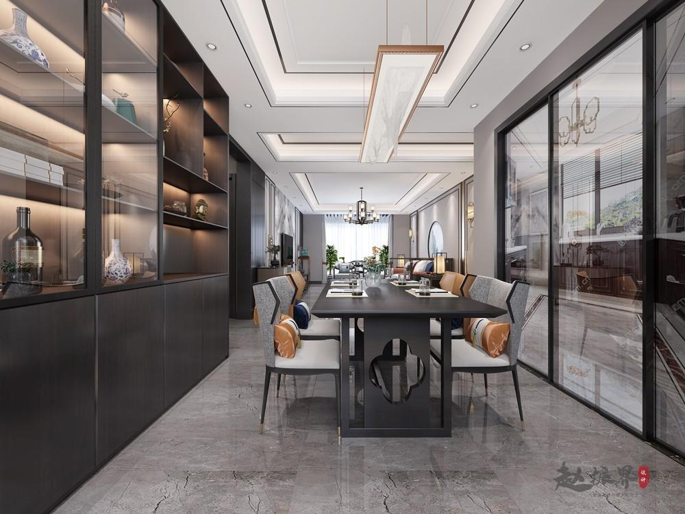 2020新中式餐厅效果图 2020新中式餐桌装修图片