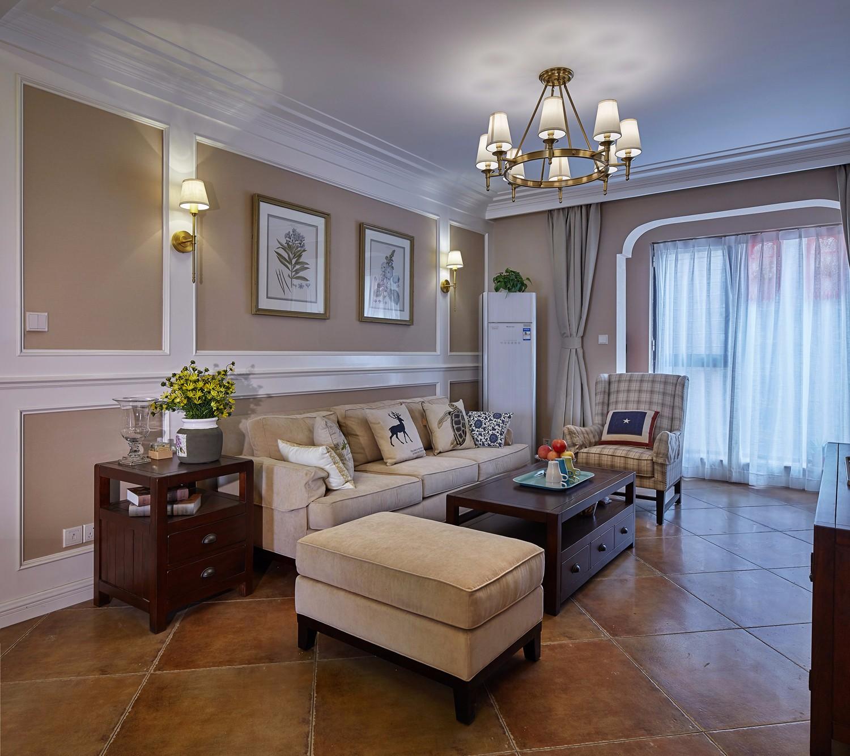 2020美式客厅装修设计 2020美式地板效果图