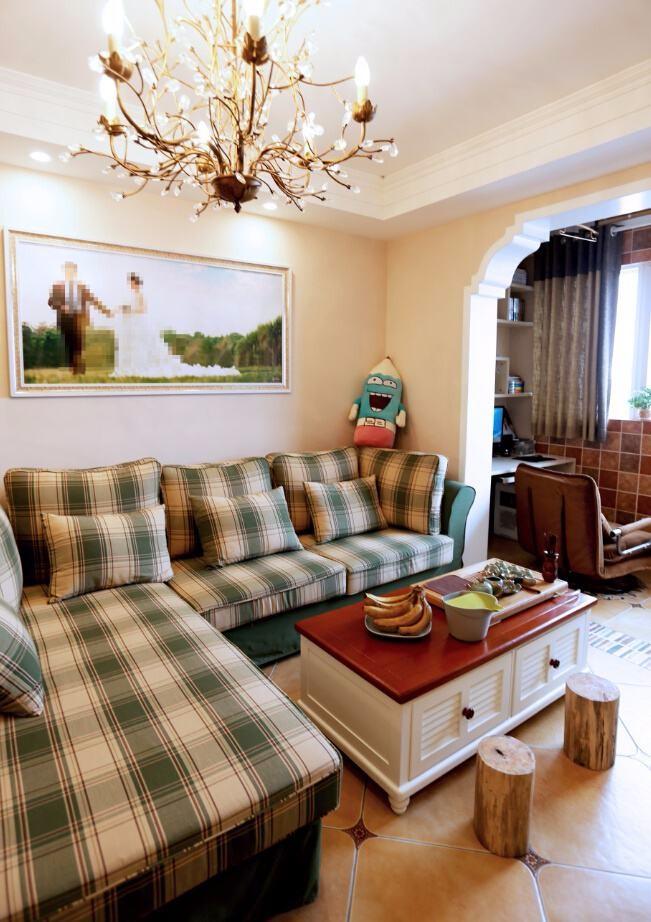 田园120平三居室装修效果图
