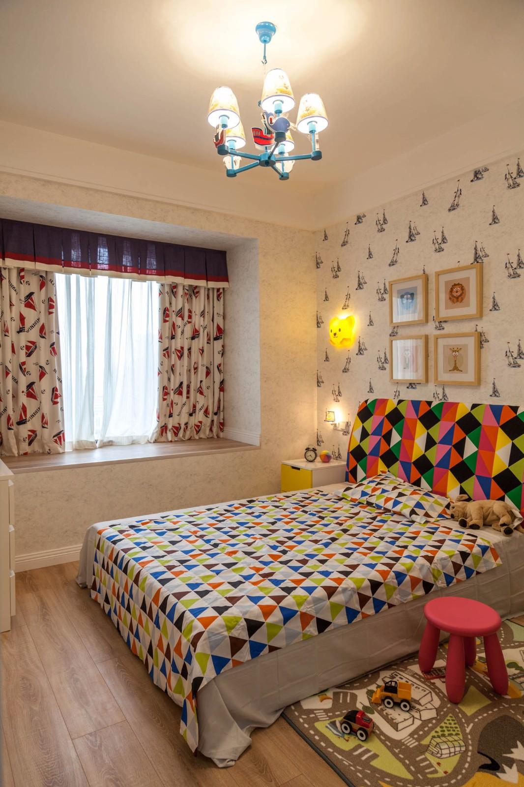 2020美式兒童房裝飾設計 2020美式窗簾圖片