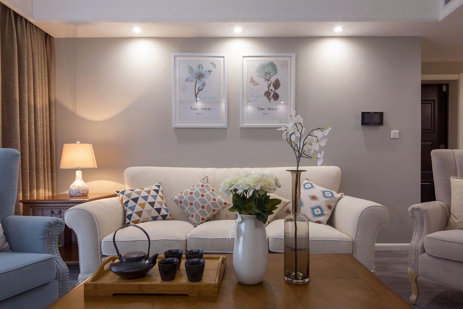 2020美式客厅装修设计 2020美式茶几效果图