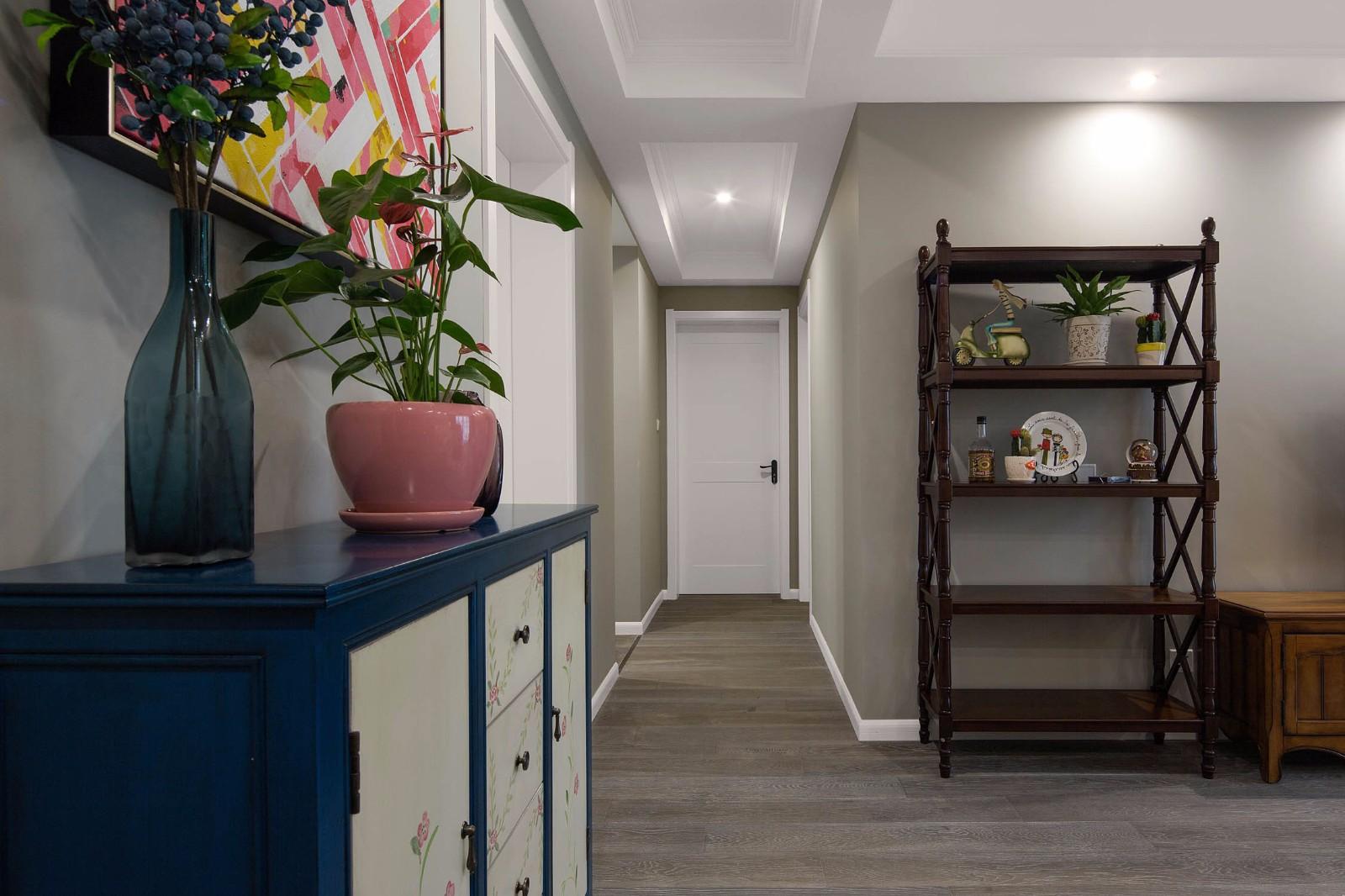 2020美式玄關圖片 2020美式走廊裝修效果圖片