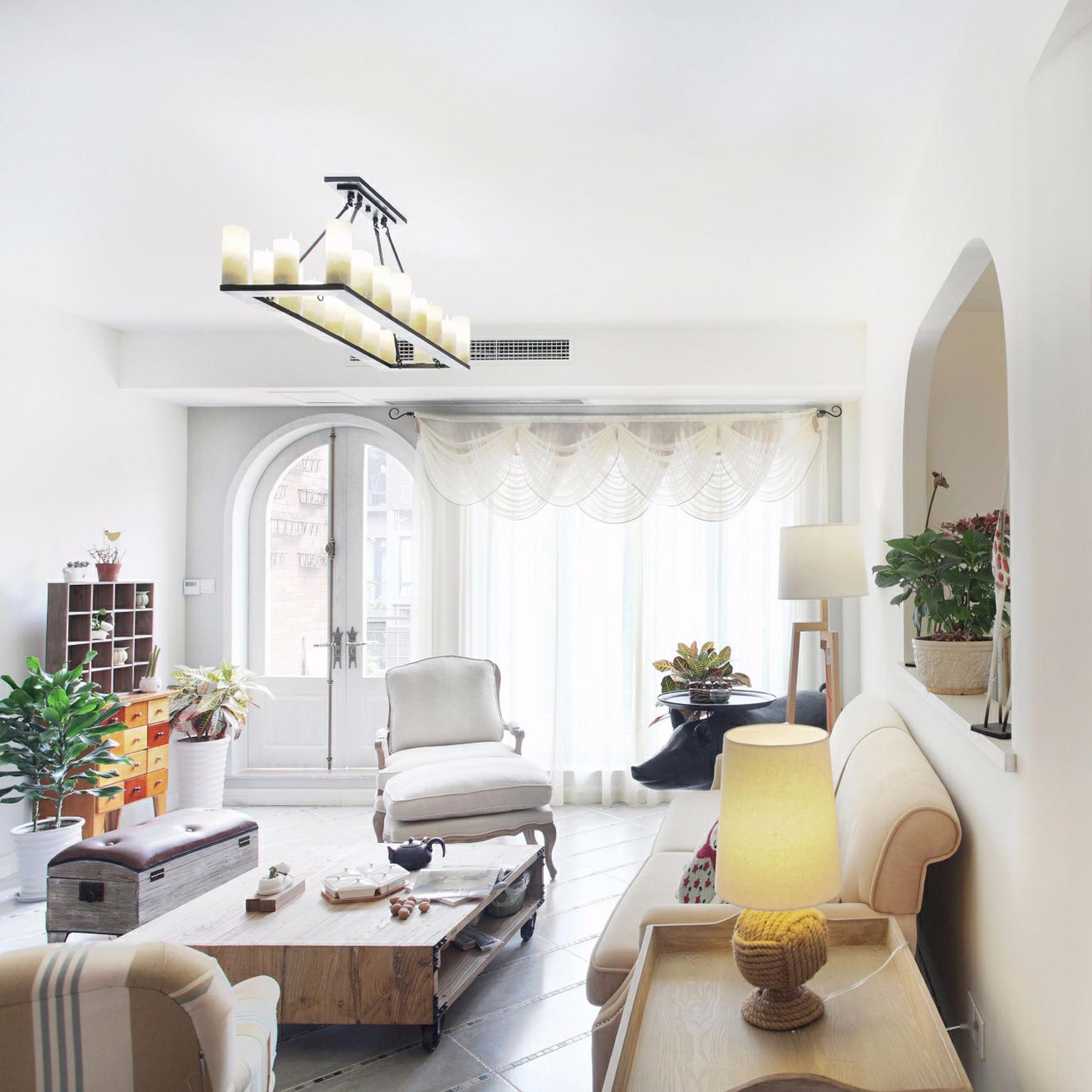 地中海120平三居室裝修效果圖
