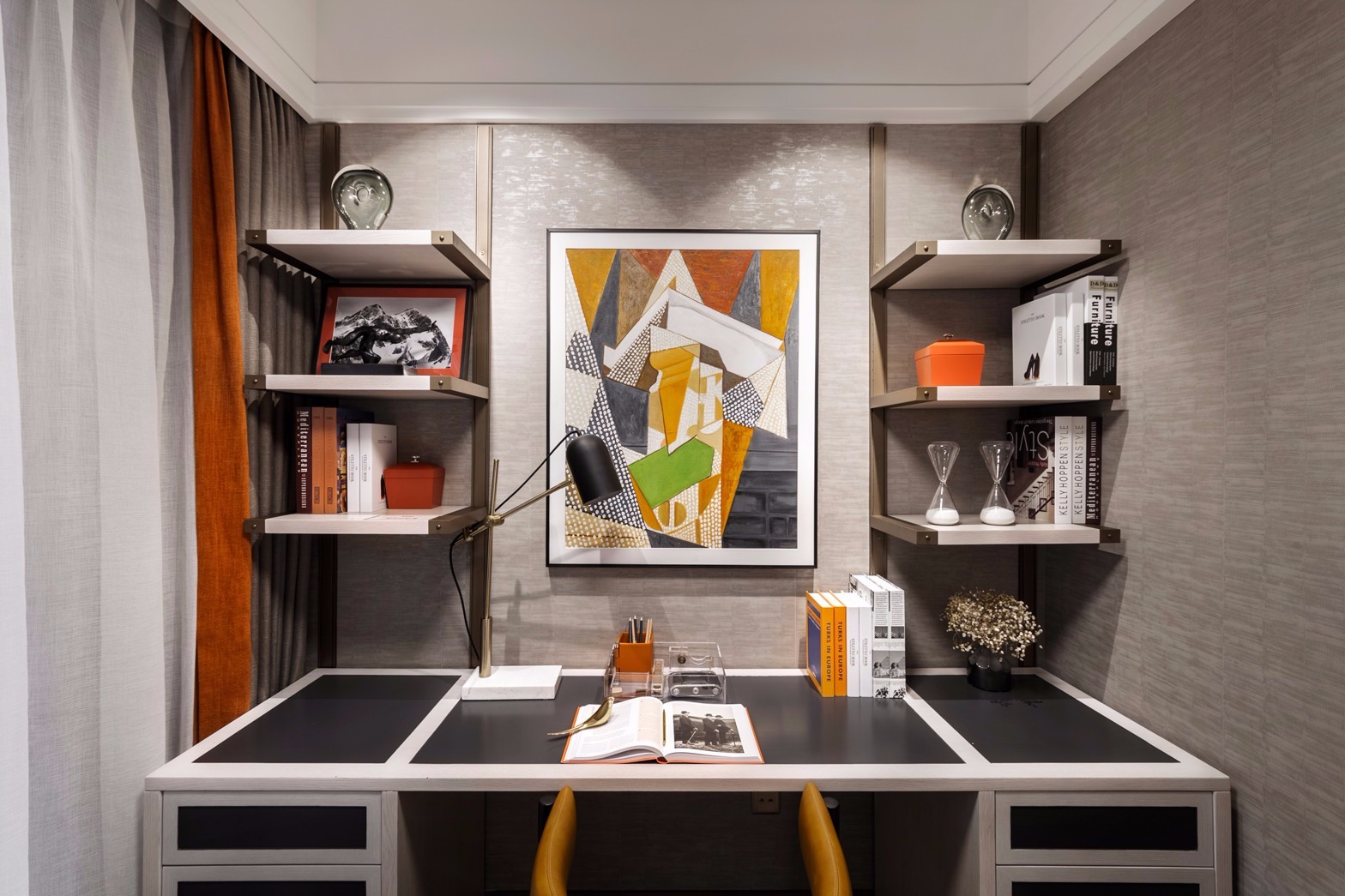 2020现代书房装修设计 2020现代书桌图片
