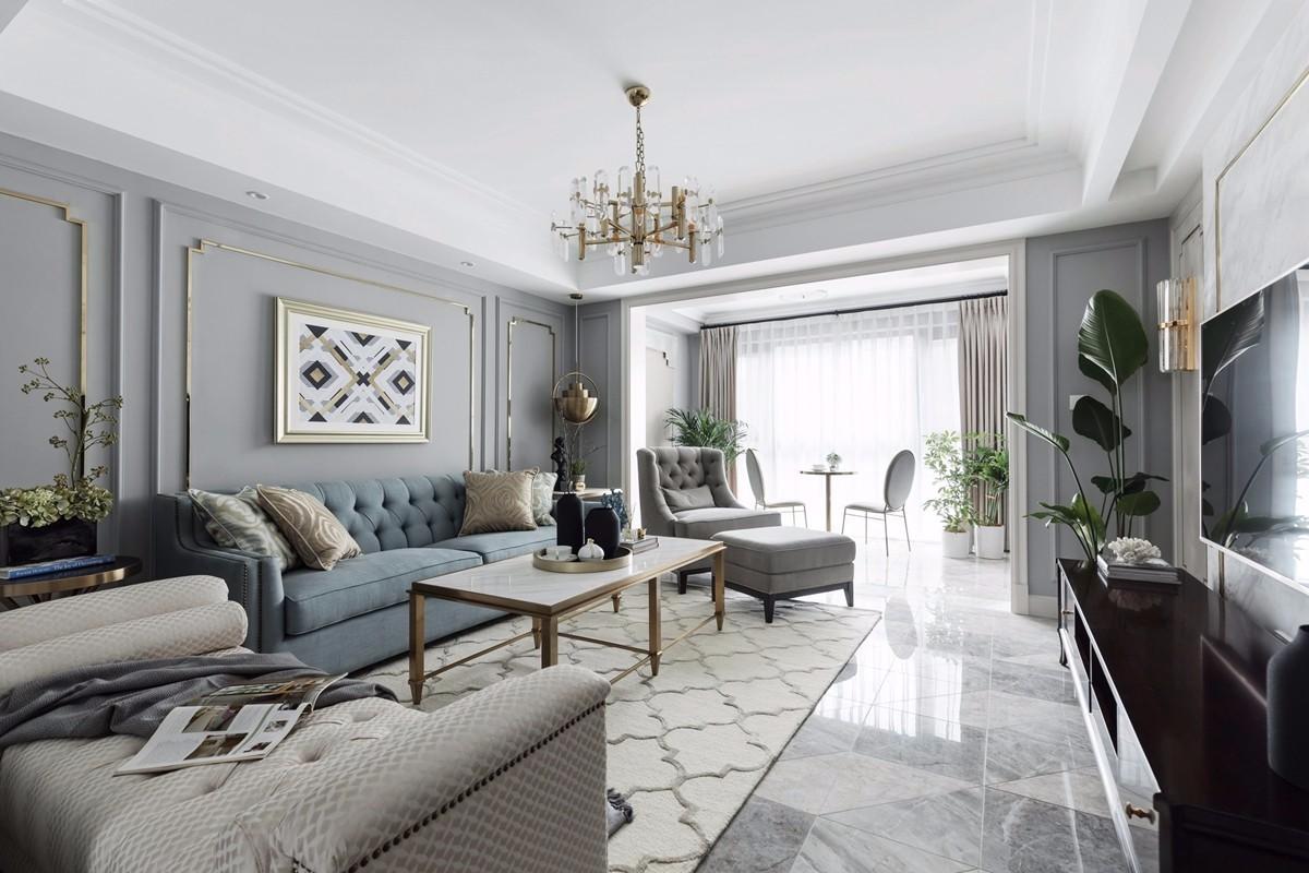 2020美式客厅装修设计 2020美式地砖装修效果图大全