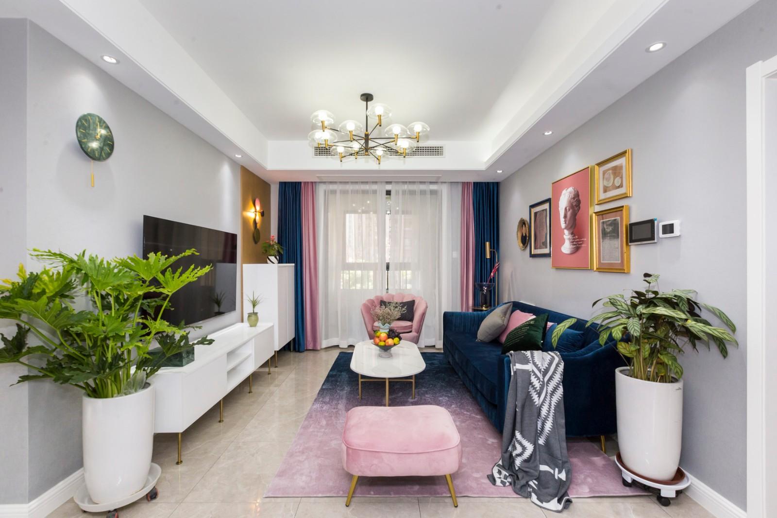 現代130平四居室裝修效果圖