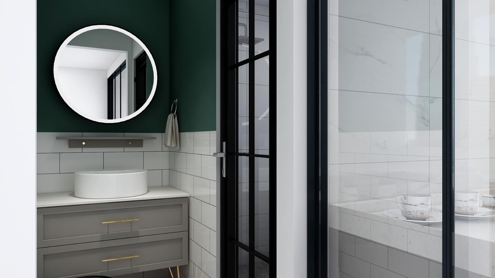 2020美式卫生间装修图片 2020美式背景墙装修设计