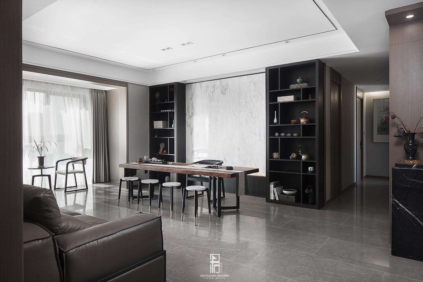 140平方²新中式,一个国画老师的家