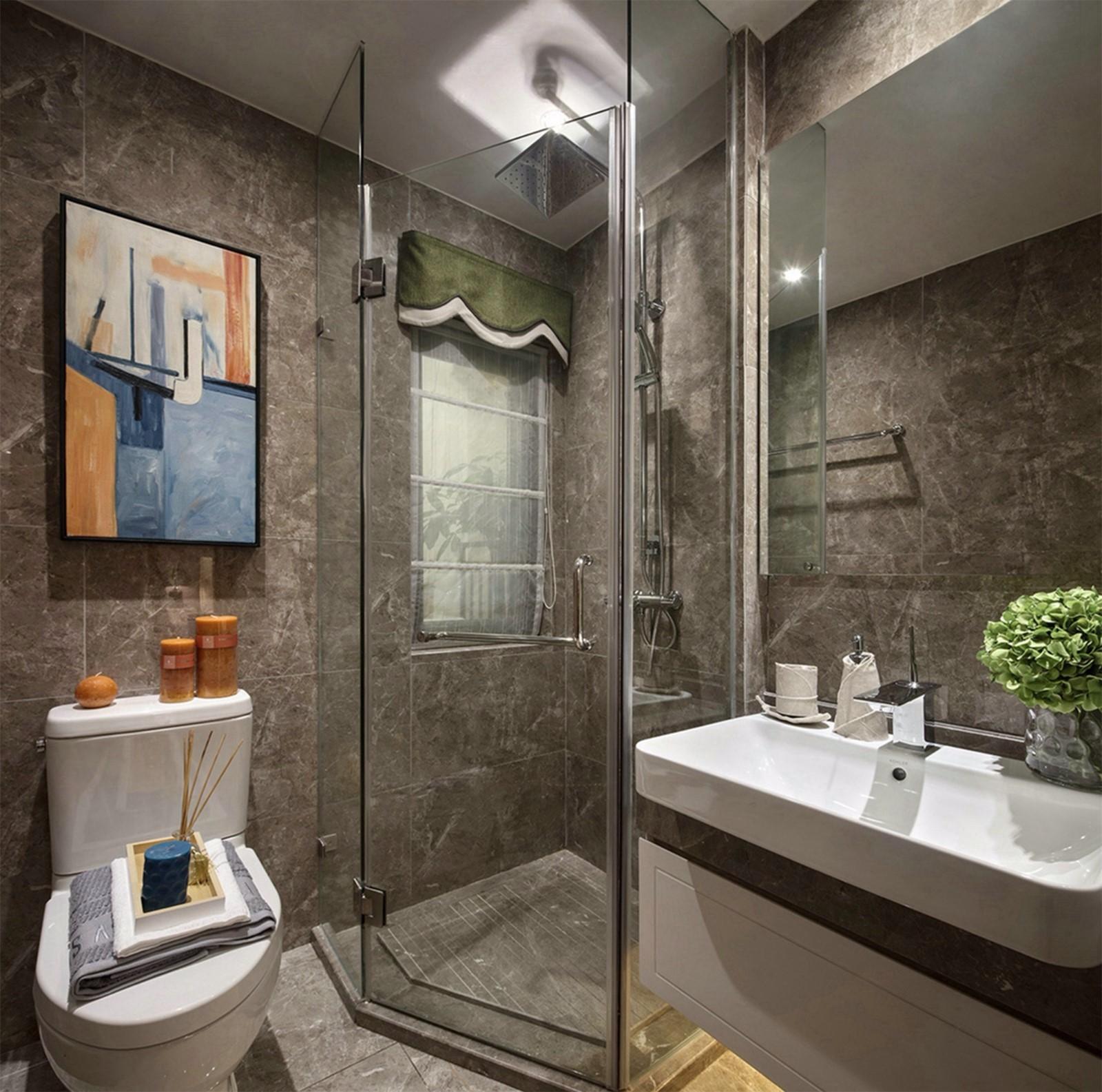 2020现代简约卫生间装修图片 2020现代简约地砖装修效果图大全
