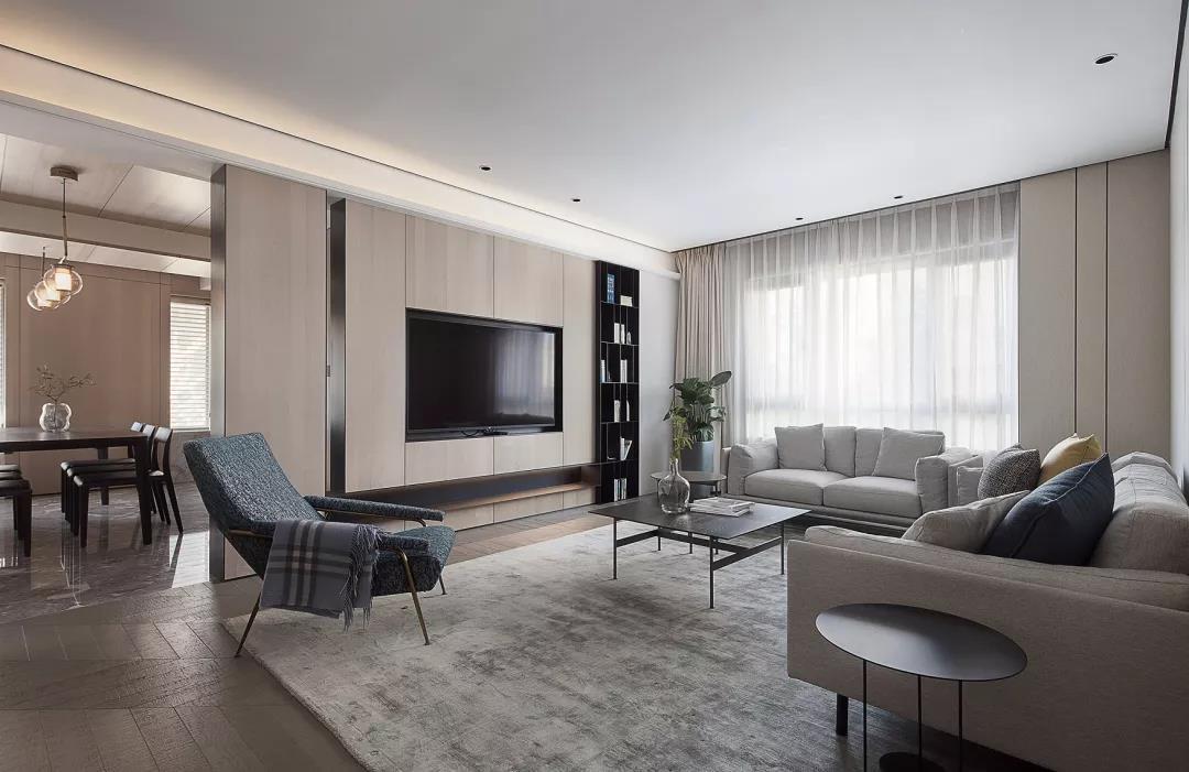 2021简单客厅装修设计 2021简单落地窗装修图片