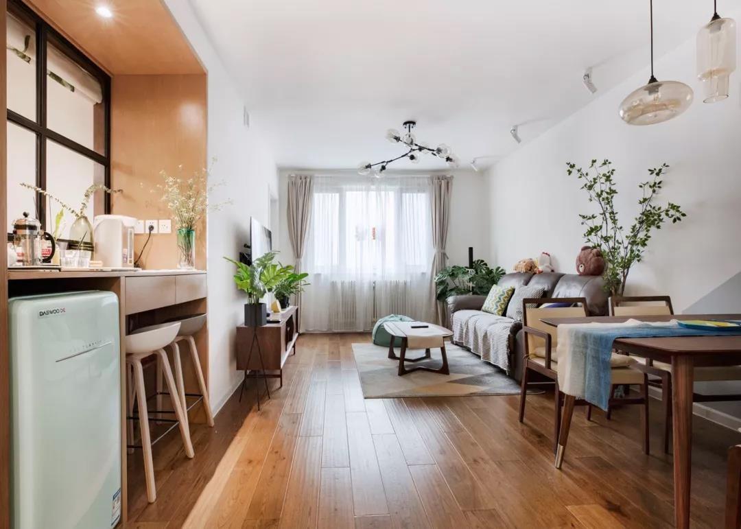80平的北歐風小戶型二居室