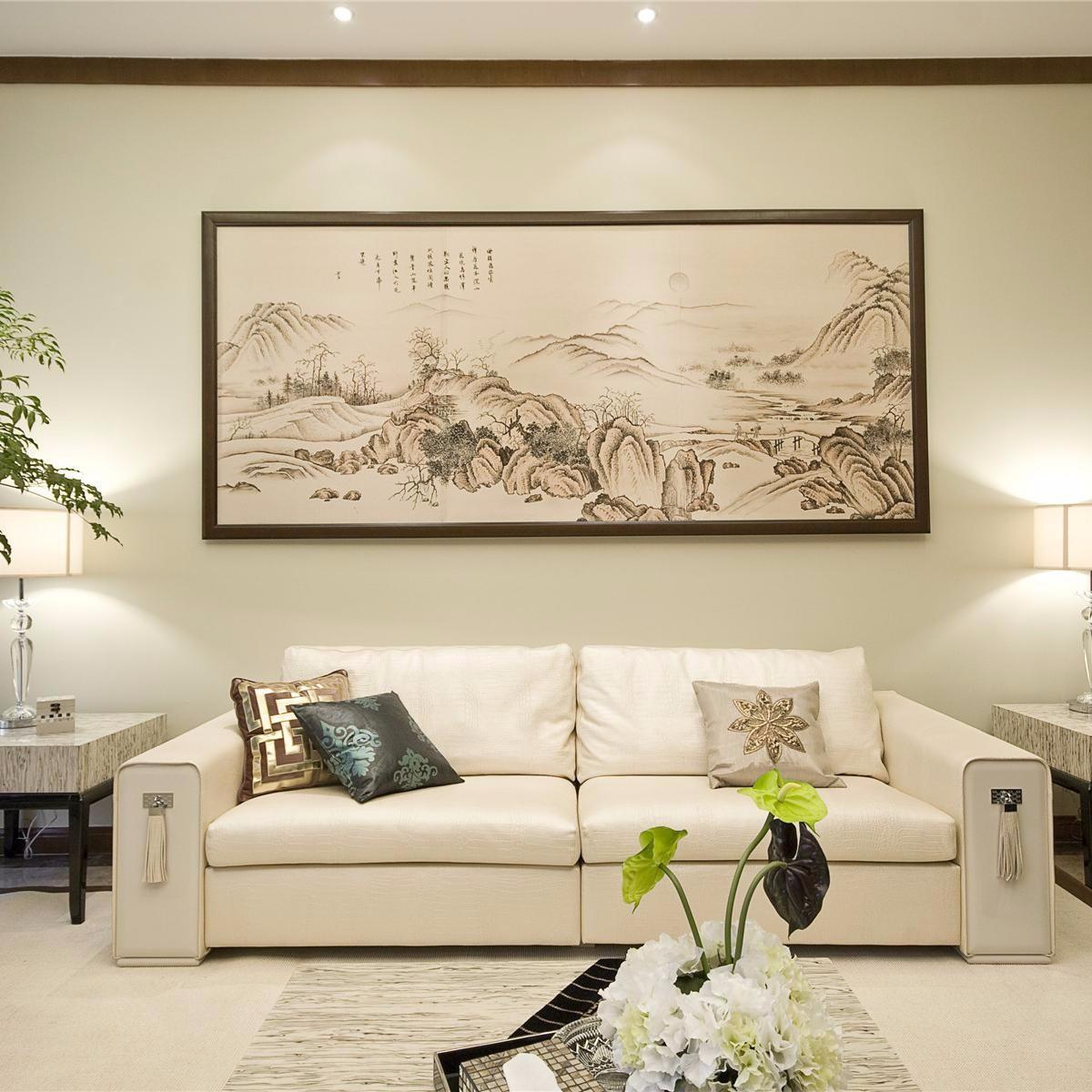 中式90平三居室裝修效果圖