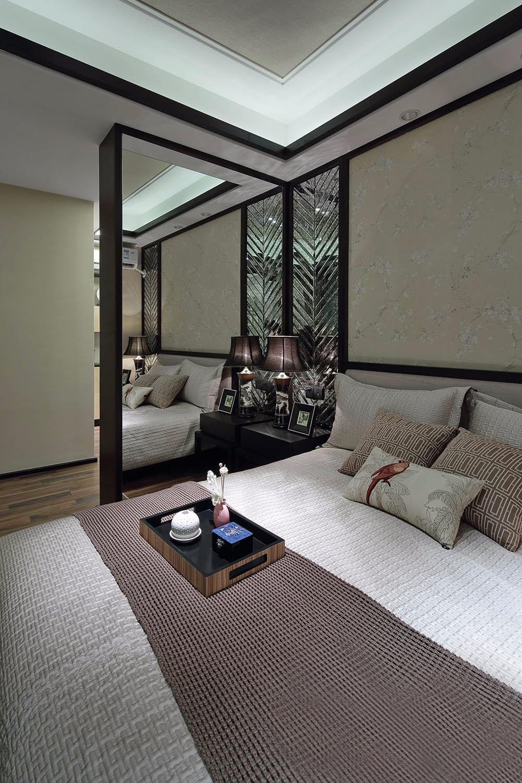 中式120平三居室裝修效果圖