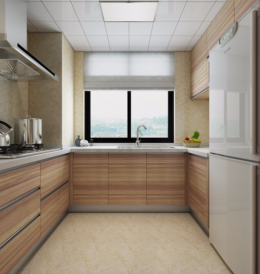 2020中式厨房装修图 2020中式橱柜装修效果图片