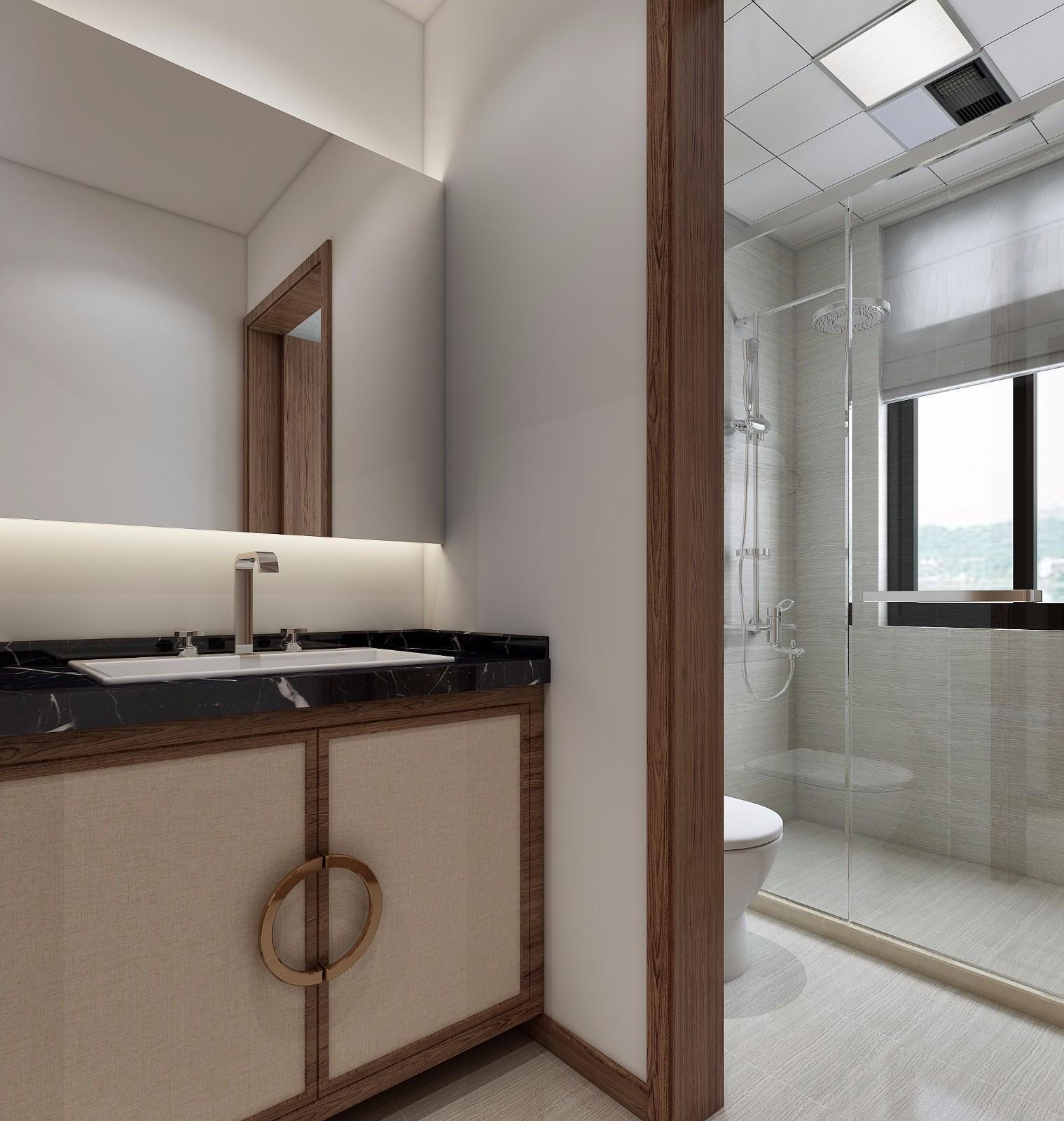 2020中式卫生间装修图片 2020中式洗漱台装饰设计